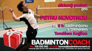 DÁRKOVÝ POUKAZ na badminton s trenérem