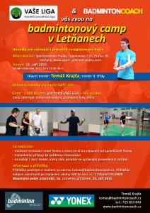 PŘIHLASTE SE na badmintonový camp v Letňanech